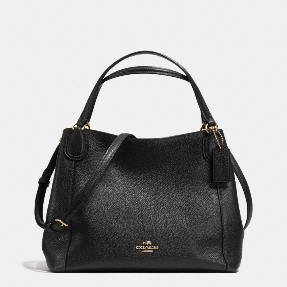EDIE SHOULDER BAG 28 IN PEBBLE LEATHER