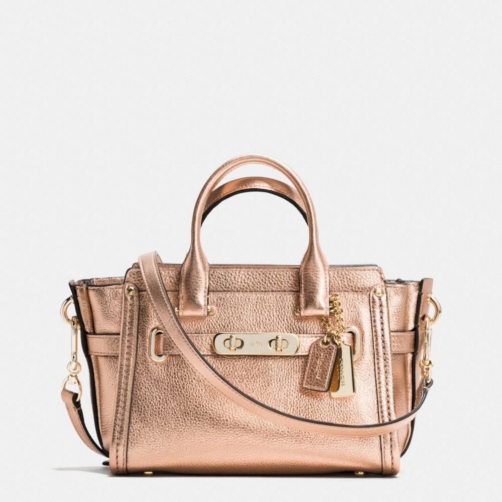 COACH SWAGGER 20 IN METALLIC PEBBLE LEATHER