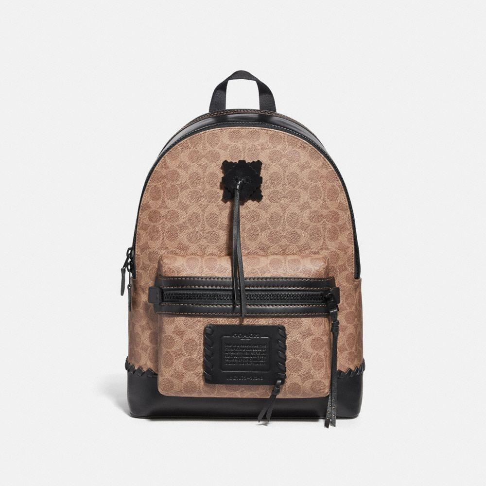 ACADEMY BACKPACK IN SIGNATURE CANVAS WITH WHIPSTITCH