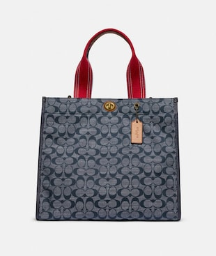 TOTE 34 IN SIGNATURE CHAMBRAY
