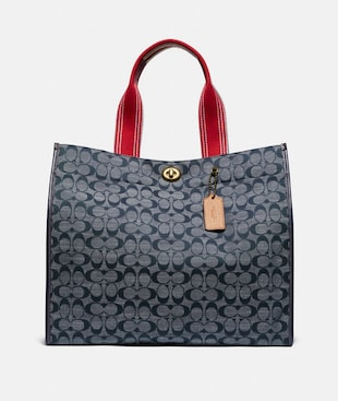 TOTE 40 IN SIGNATURE CHAMBRAY