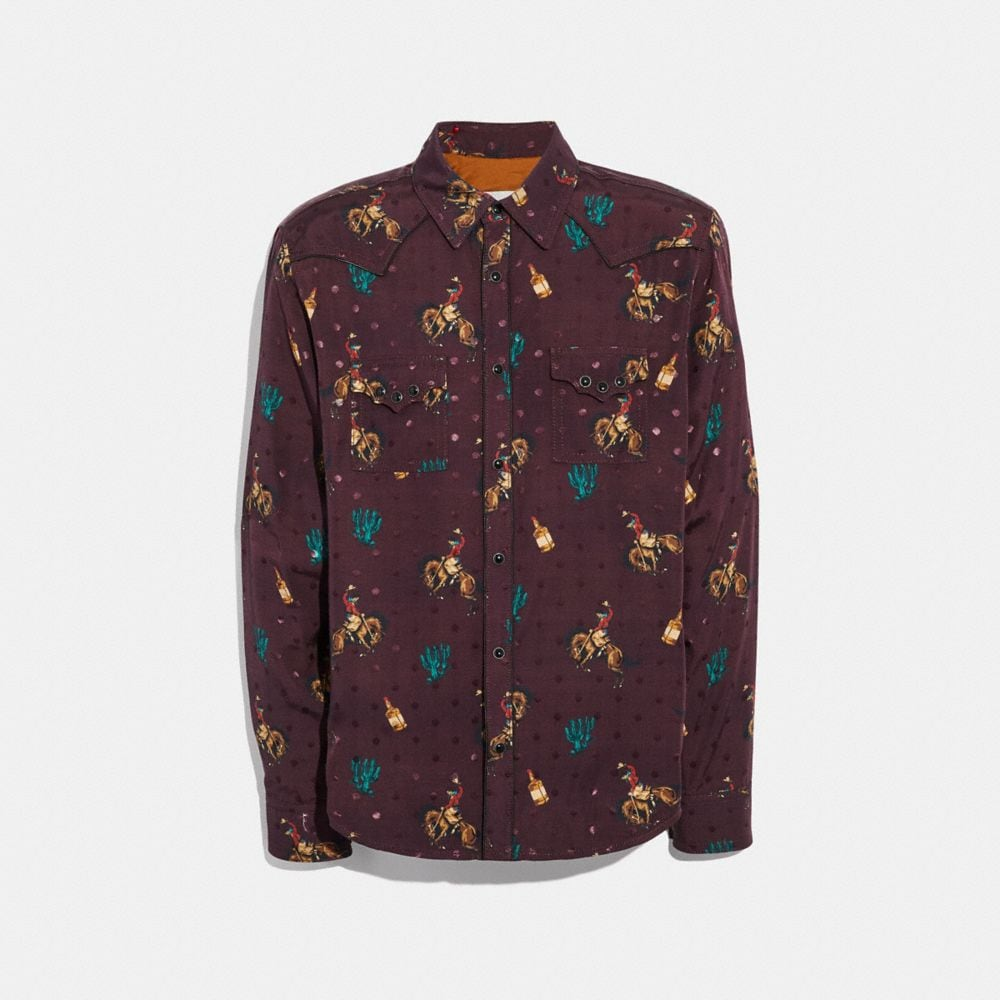 RODEO PRINT WESTERN SHIRT