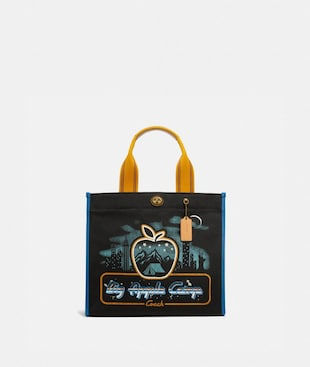 "TOTE 34 MIT SKYLINE UND ""BIG APPLE CAMP""-PRINT"