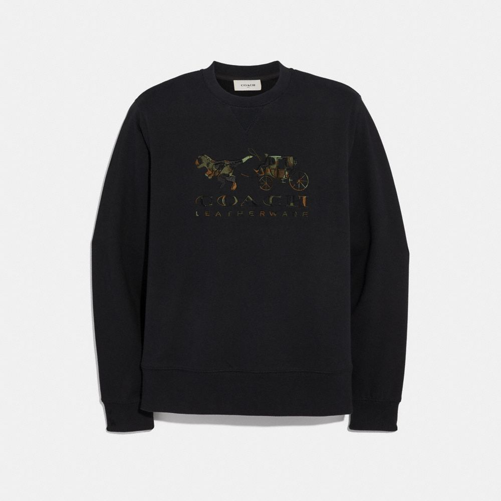 REXY AND CARRIAGE CAMO SWEATSHIRT