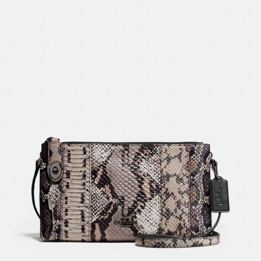 CROSBY CROSSBODY IN PIECED EXOTIC EMBOSSED LEATHER
