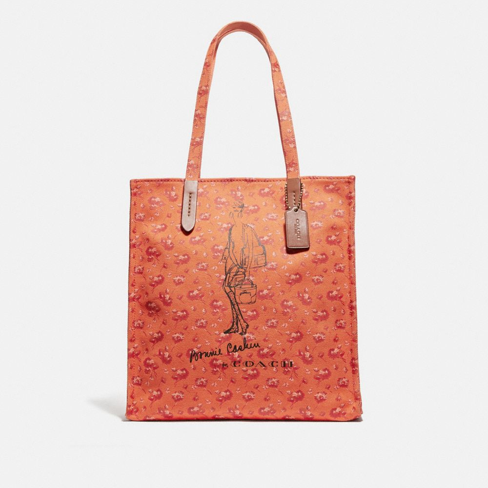BONNIE CASHIN LONG BOOTS TOTE IN PRINTED CANVAS