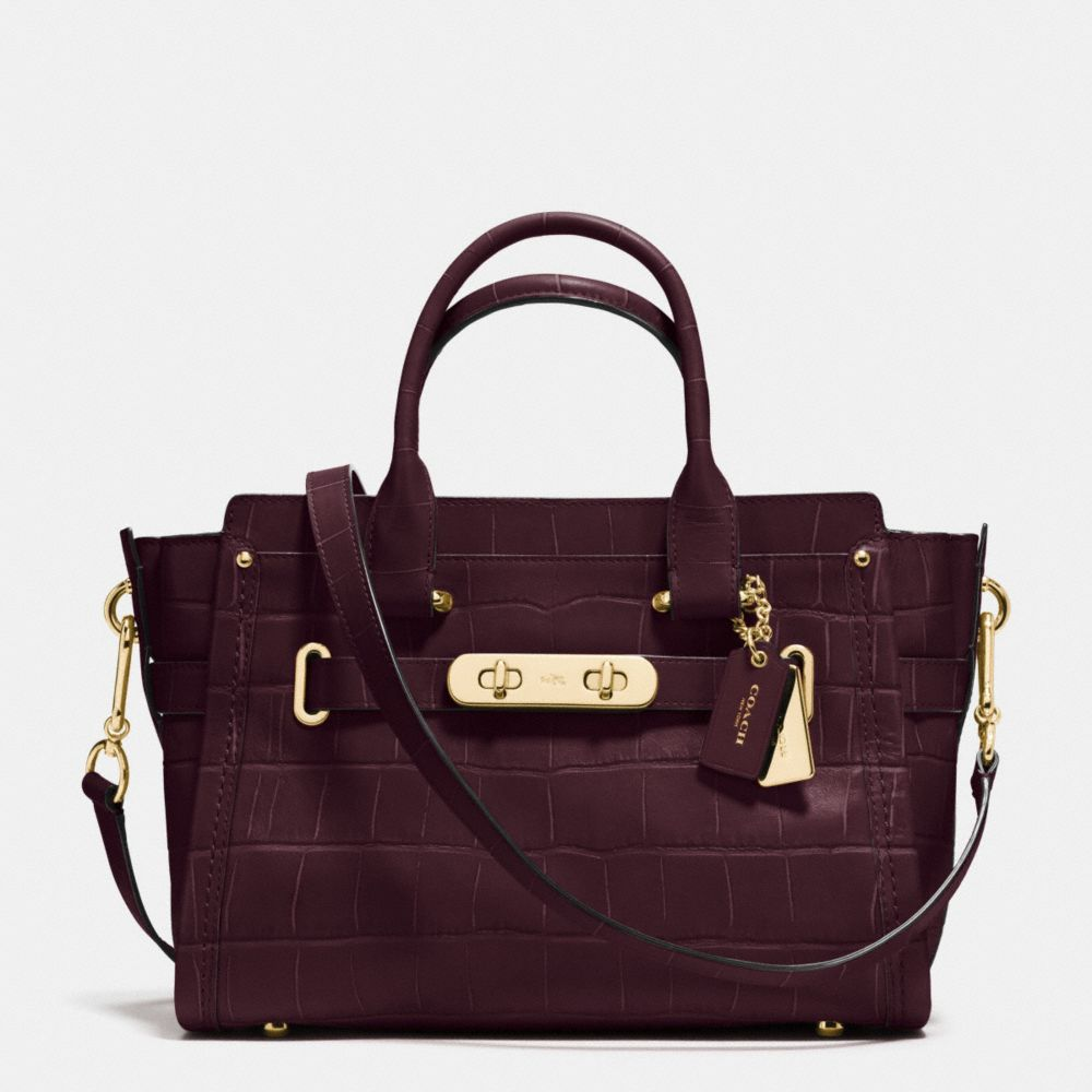 COACH SWAGGER 27 IN CROC EMBOSSED LEATHER