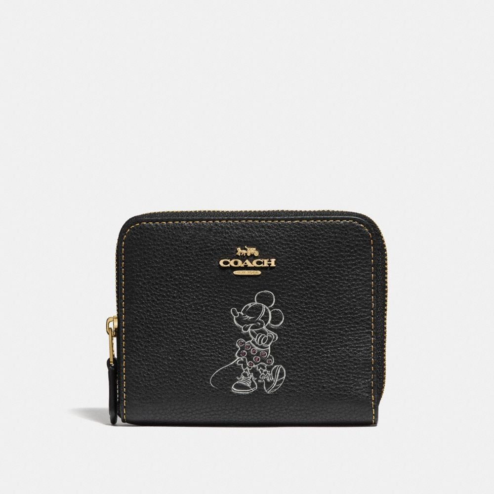 BOXED MINNIE MOUSE SMALL ZIP AROUND WALLET WITH MOTIF