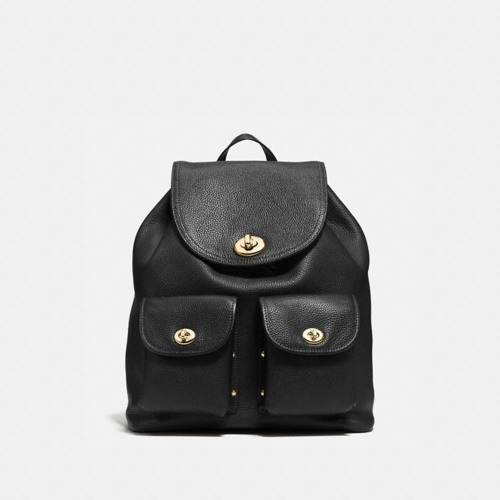TURNLOCK RUCKSACK IN PEBBLE LEATHER
