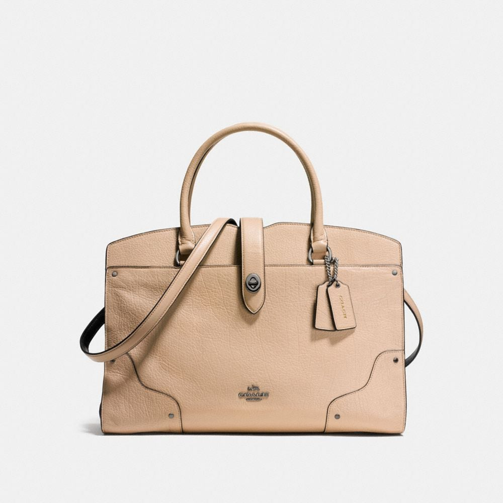 MERCER SATCHEL IN COLORBLOCK LEATHER