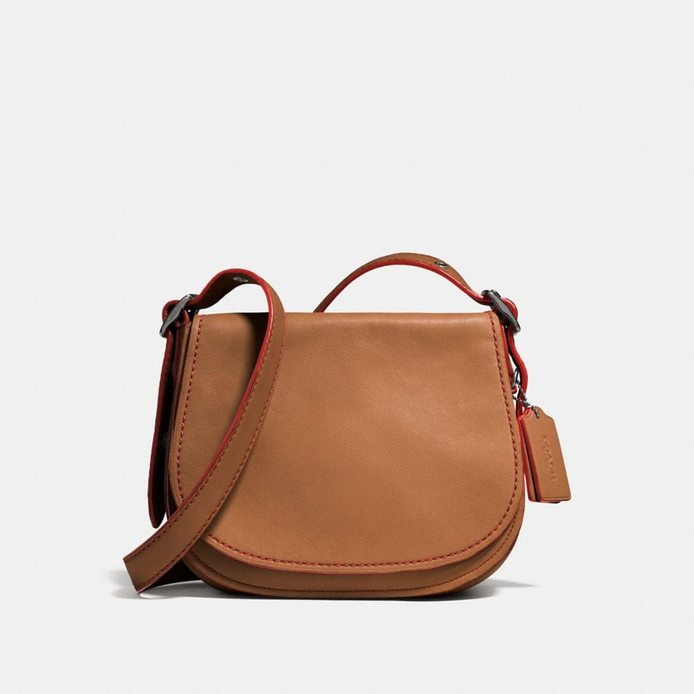 SADDLE BAG 23 IN GLOVETANNED LEATHER