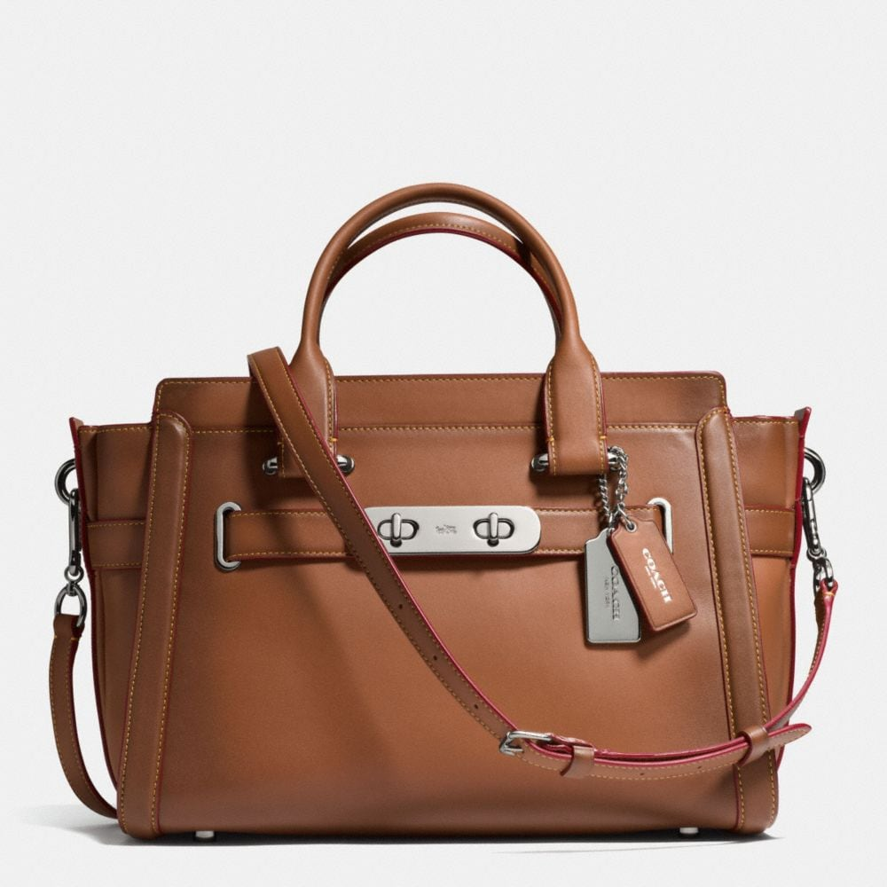 COACH SWAGGER IN BURNISHED GLOVETANNED LEATHER