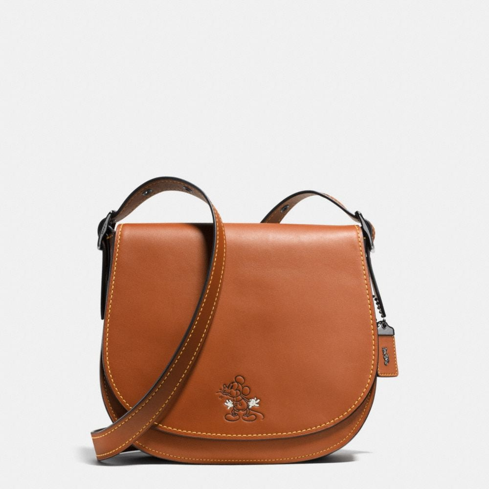 MICKEY SADDLE BAG IN GLOVETANNED LEATHER