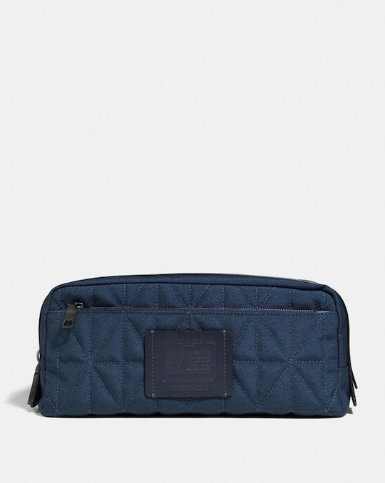 DOUBLE ZIP DOPP KIT WITH QUILTING