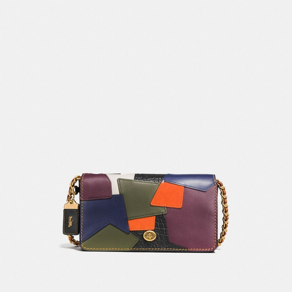 DINKY CROSSBODY IN PATCHWORK LEATHER
