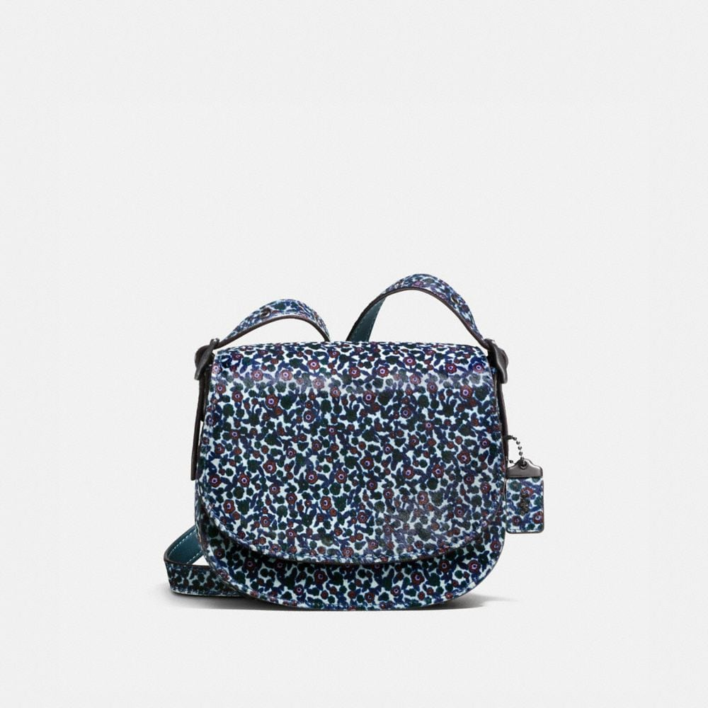 SADDLE BAG 23 IN PRINTED HAIRCALF