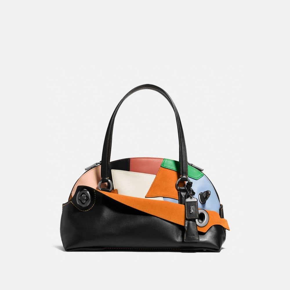 OUTLAW SATCHEL IN PATCHWORK LEATHER