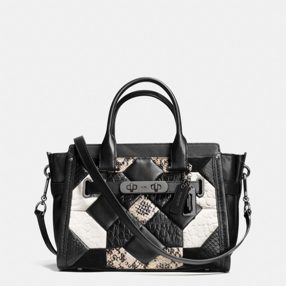 CANYON QUILT COACH SWAGGER 27 IN EXOTIC EMBOSSED LEATHER