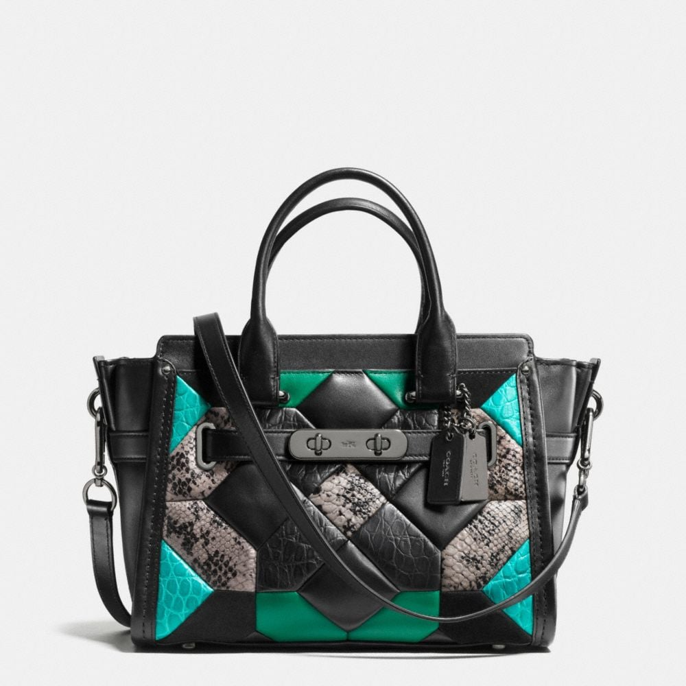 CANYON QUILT COACH SWAGGER 27 CARRYALL IN EXOTIC EMBOSSED LEATHER