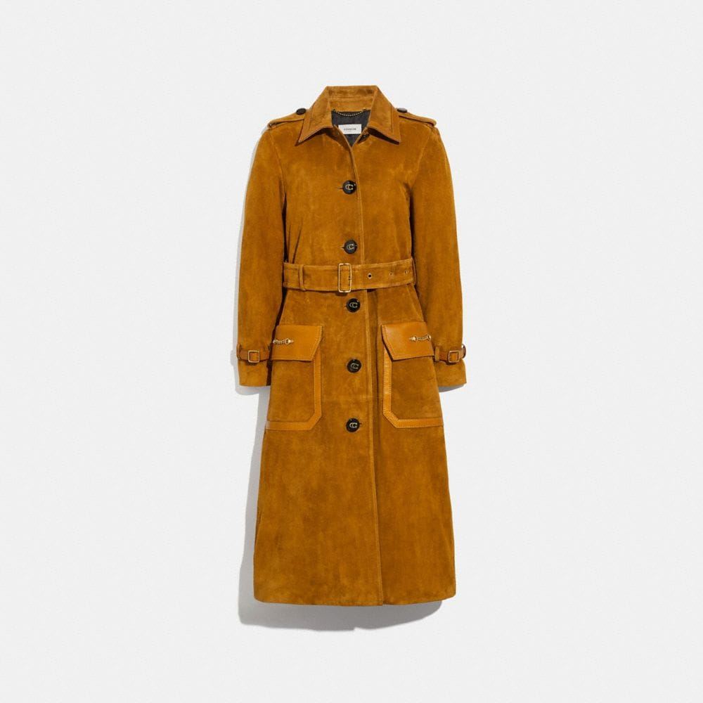 WESTERN SUEDE TRENCH COAT