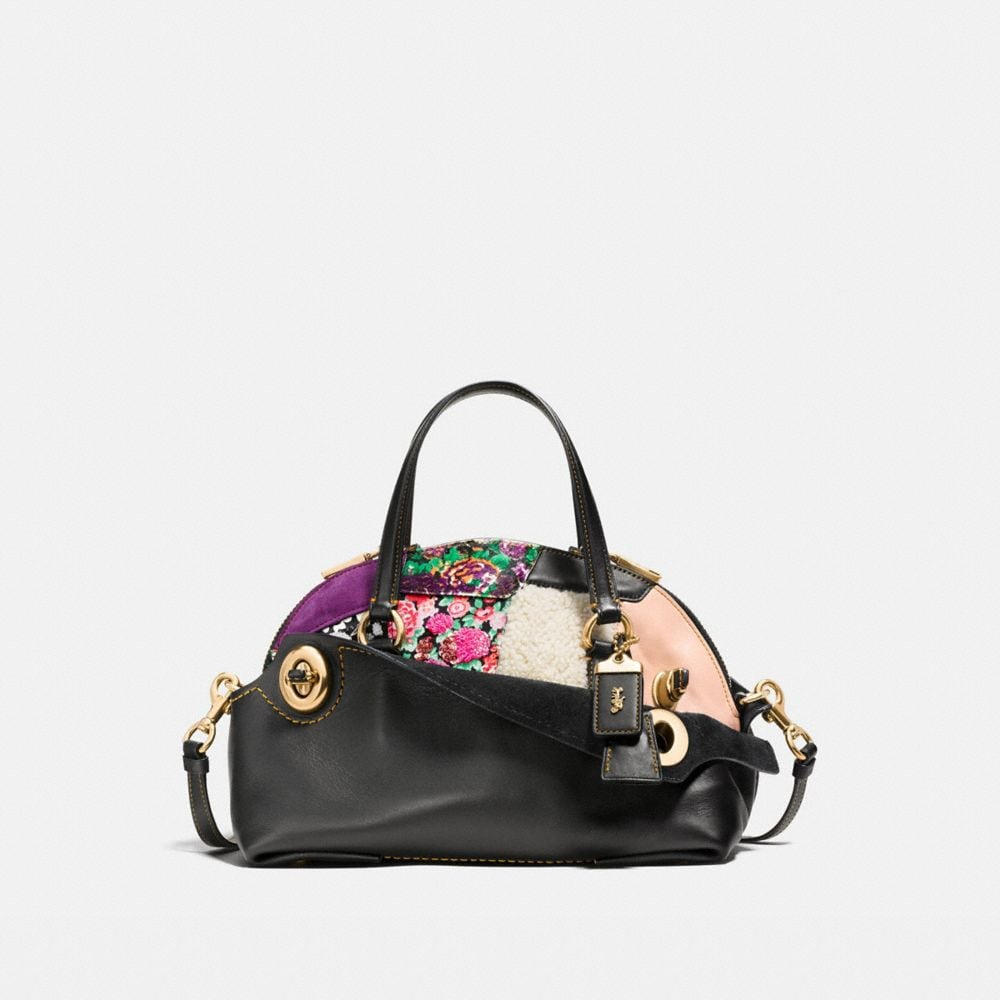 OUTLAW SATCHEL 36 IN EMBELLISHED PATCHWORK LEATHER