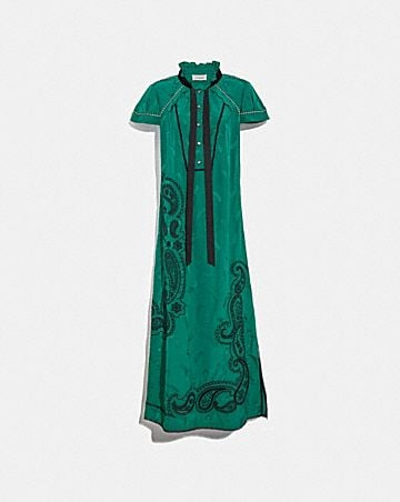 EMBROIDERED WESTERN JACQUARD DRESS