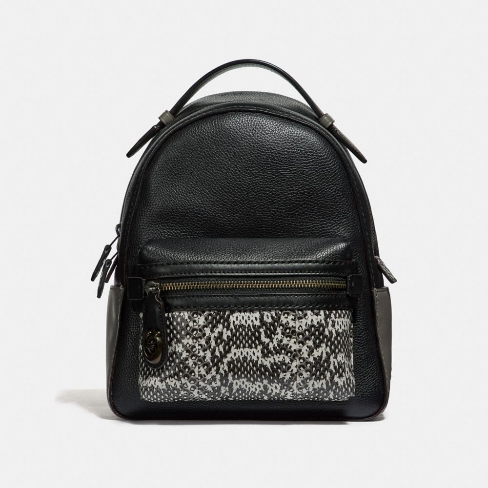 CAMPUS BACKPACK 23 IN COLORBLOCK WITH SNAKESKIN DETAIL