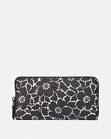ae621bc03909da ACCORDION ZIP WALLET WITH ANEMONE PRINT ...