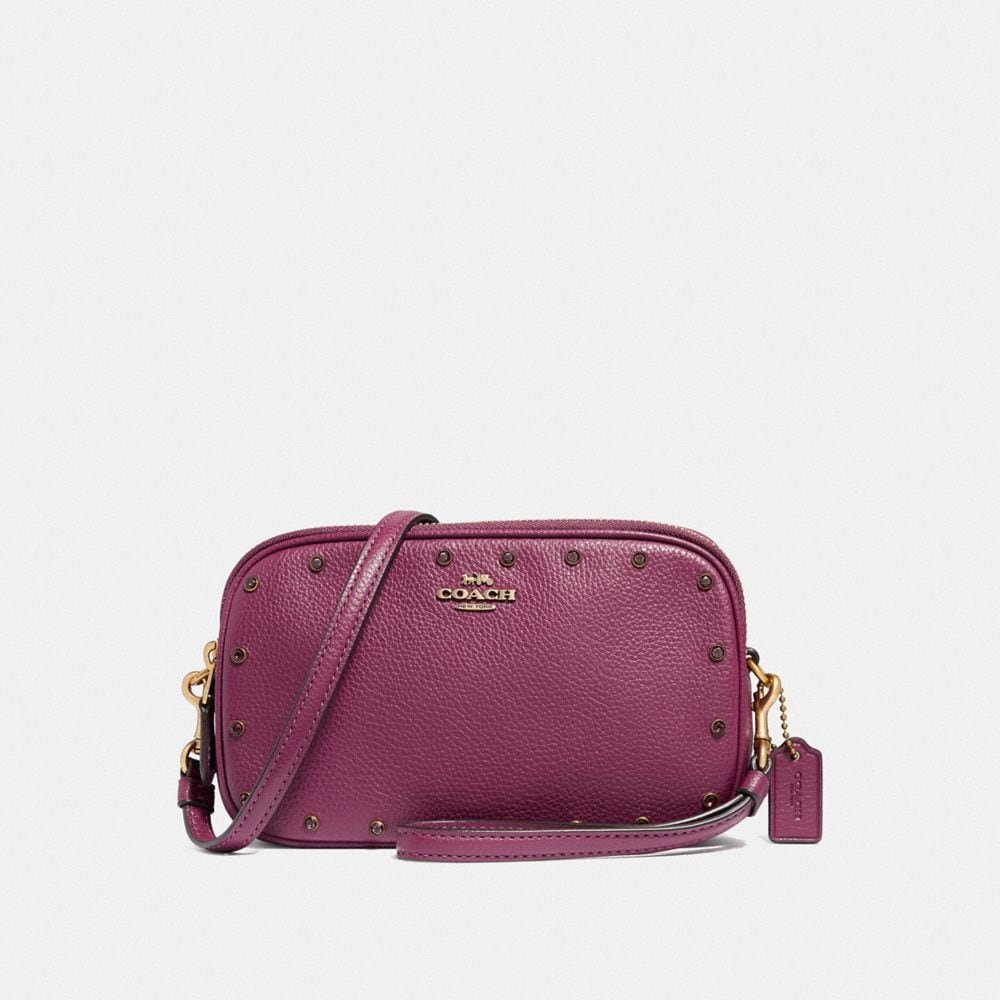 SADIE CROSSBODY CLUTCH WITH CRYSTAL RIVETS