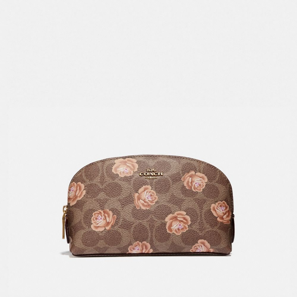 COSMETIC CASE 17 IN SIGNATURE ROSE PRINT