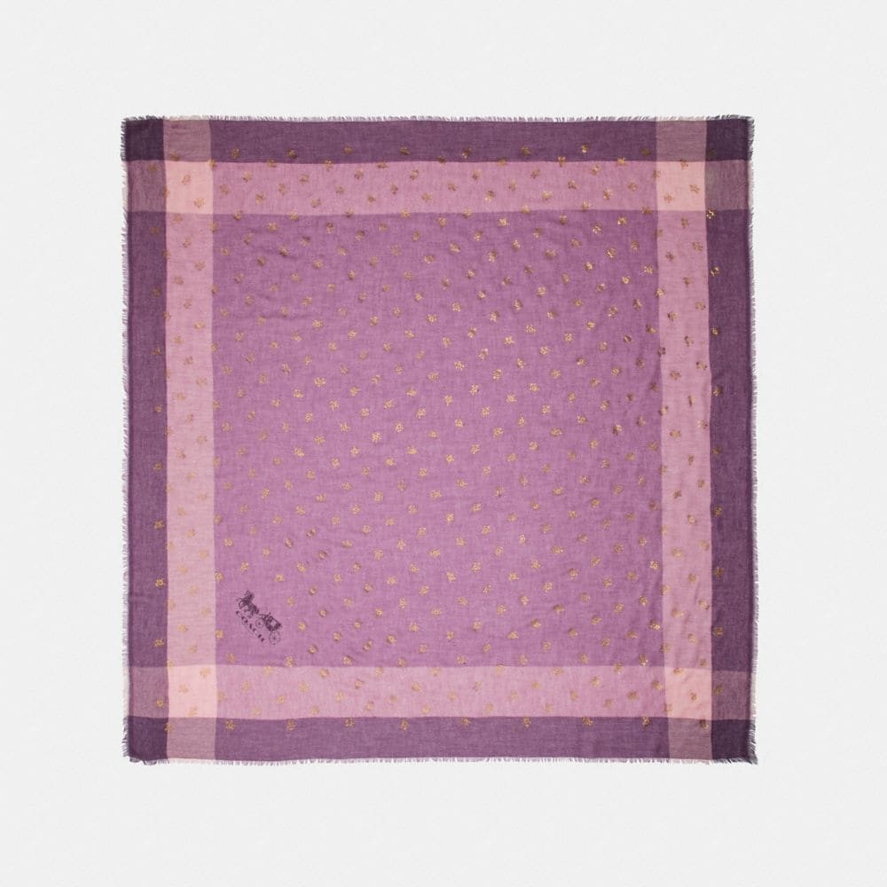 ROSE FOIL WINDOWPANE CHALLIS