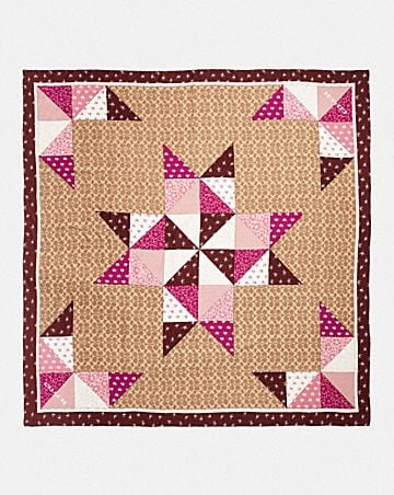 SIGNATURE PATCHWORK OVERSIZED SQUARE SCARF