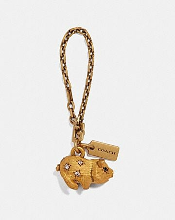 JEWELED PIG BAG CHARM