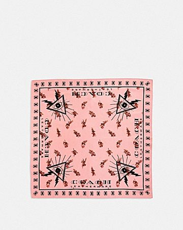 FLORAL PYRAMID EYE SILK BANDANA