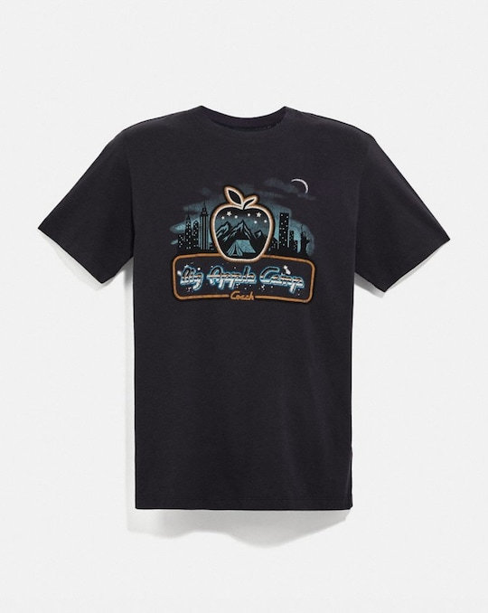 T-SHIRT BIG APPLE CAMP MOTIF GRATTE-CIEL