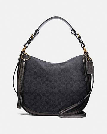 SUTTON HOBO IN SIGNATURE CANVAS WITH SNAKESKIN DETAIL ... 7279926d6960d