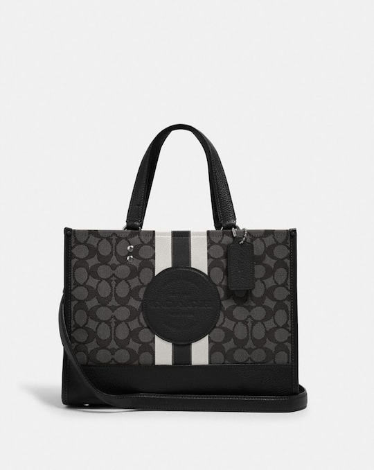 DEMPSEY CARRYALL IN SIGNATURE JACQUARD WITH STRIPE AND COACH PATCH