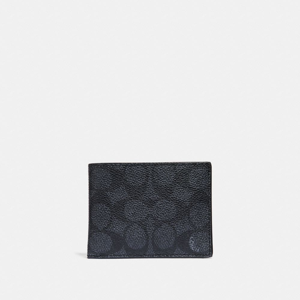 SLIM BILLFOLD WALLET IN SIGNATURE COATED CANVAS