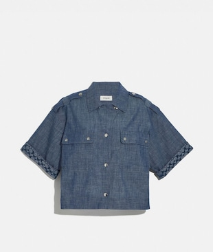 KASTIGES CHAMBRAY-HEMD
