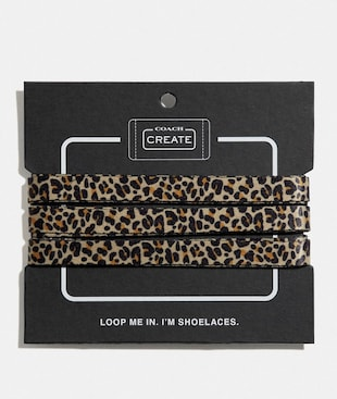 ANIMAL PRINT SHOE LACES