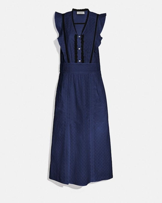 ROBE MAXI AVEC BRODERIE ANGLAISE