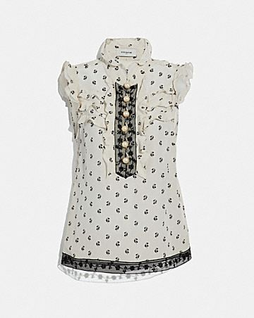 LILY PRINT VICTORIAN TOP