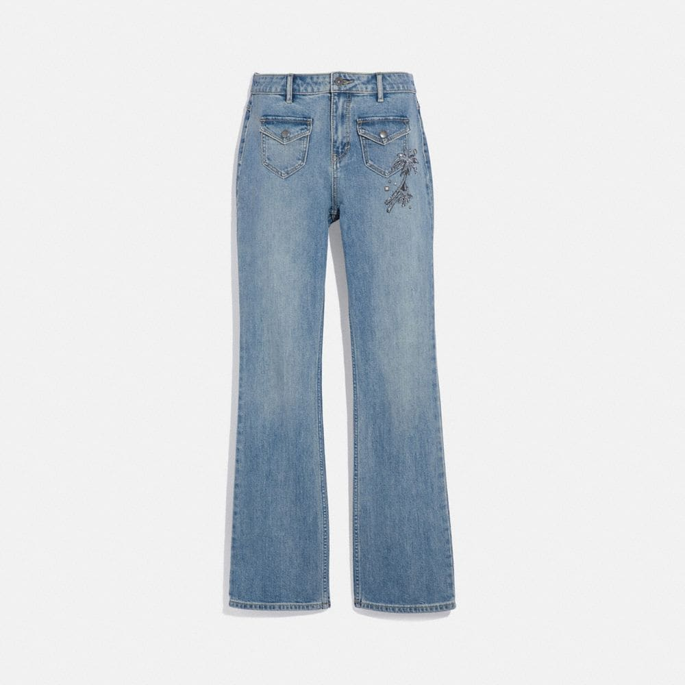 PANTALON EN DENIM ORNÉ