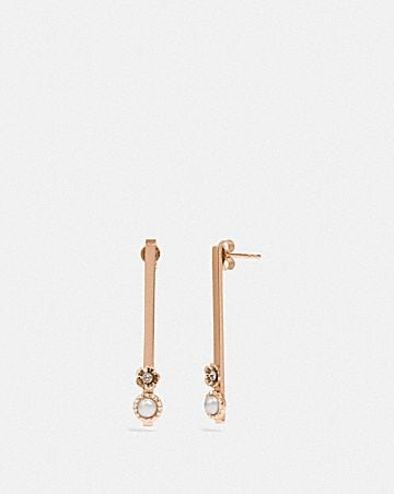 DEMI-FINE SUNBURST BAR EARRINGS