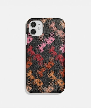 IPHONE 11 CASE WITH HORSE AND CARRIAGE PRINT