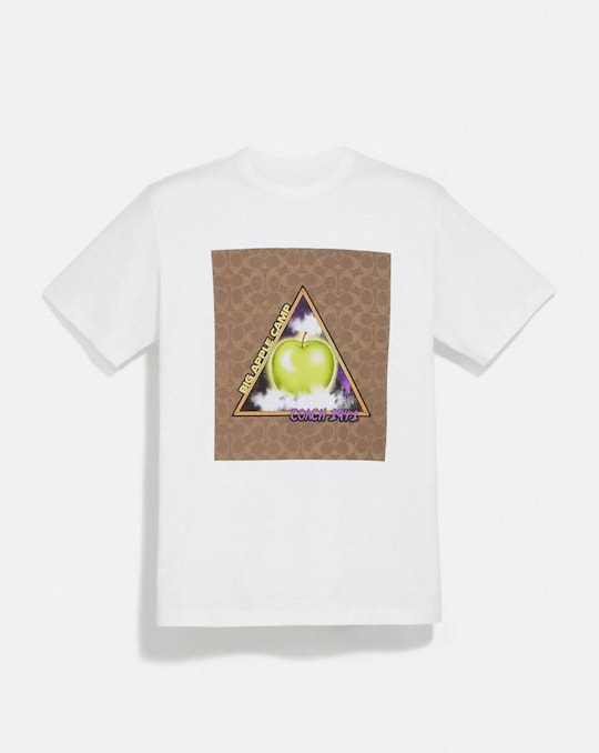 "CHARAKTERISTISCHES ""BIG APPLE CAMP""-T-SHIRT"