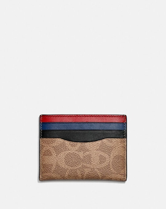 COACH X CHAMPION CARD CASE IN SIGNATURE CANVAS