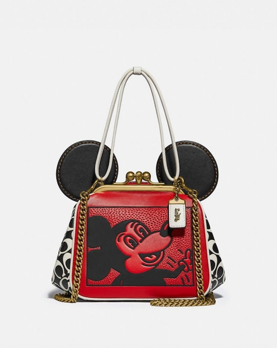 SAC À FERMOIR BOURSE DISNEY MICKEY MOUSE X KEITH HARING