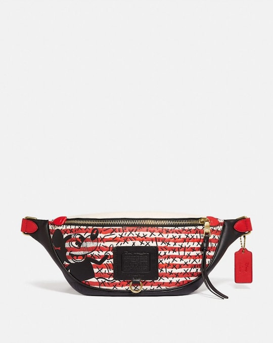 SAC CEINTURE RIVINGTON DISNEY MICKEY MOUSE X KEITH HARING