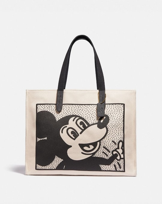 DISNEY MICKEY MOUSE X KEITH HARING TOTE 42
